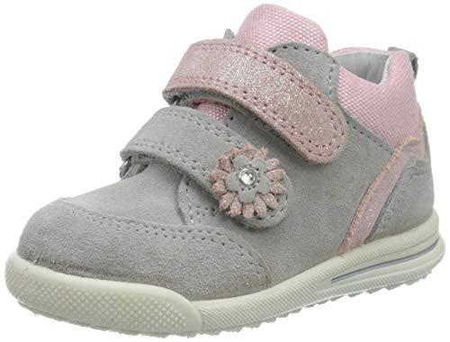 Superfit Baby Mädchen Avrile Mini Sneaker, Grau (Hellgrau/Rosa 25), 23 EU