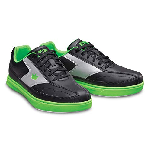Bowling-Schuhe, Brunswick Renegade, Damen und Herren, für Rechts- und Linkshänder in 4 Farben Schuhgröße 38-47 (Schwarz/Neon, Numeric_47)