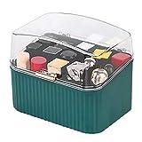 Caja de almacenamiento de lápiz labial portátil Organizador de maquillaje antipolvo con tapa...