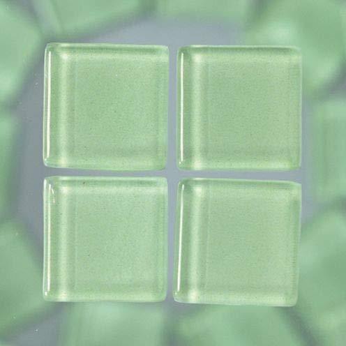MosaixSoft Glazen Tegels 15 x 15 x 4 mm 200 g ~ 91 st. Lichtgroen