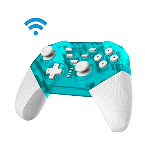 JFUNE Switch Mando Inalámbrico para Nintendo Switch, Controlador Pro Switch Inalámbrico, Función de DualShock y Turbo con Gyro Axis Switch Gamepad - 2019 Nueva versión (Verde)