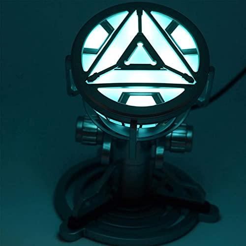 WXHJM MK43 Iron Man Reactor,Cofre LED Luminoso,1: 1 Wearable Iron Man Ark Reactor Modelo de Aleación,Marvel Avengers Superhéroe,MK43