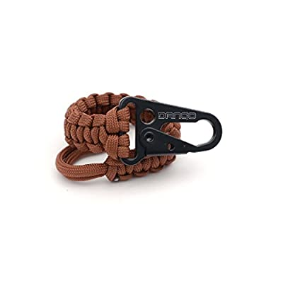 Dango EDC Tether - Cobra Weave 550 Paracord - 6 Inch Woven, 10 Feet Unraveled (Brown)