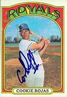 Autograph Warehouse 97714 Cookie Rojas Autographed Baseball Card Kansas City Royals 1972 Topps No. 415
