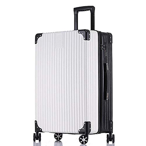 XIANGSHAN Trolley Case - Contrast Color PC Trolley Case Stylish and Durable Travel Trolley Case Waterproof Security Box 34 Inch 45 * 28 * 31.5cm
