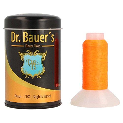Dr. Bauers Premium tandzijde 100 m in stijlvolle zwarte metalen doos met deksel, navulbaar