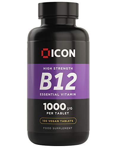 Vitamin B12 High Strength 1000mcg, Easy to Swallow Tablets - 100 Day Supply