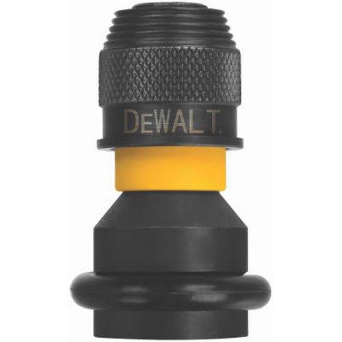 DEWALT DW2298 1/2-Inch Square to 1/4-Inch Adaptor Hex Rapid Load , Black
