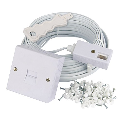 Telefoon Extension Kit 20m, TriStar 19867TR 20m Complete Phone Line Extension Kit Telefoonkabel