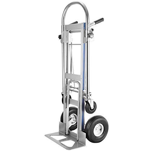 VEVOR Carretilla de Mano con 2 o 4 Ruedas Carro de Transporte Apilable (1000 lbs)