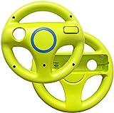 Link-e : 2 X Volante De Carreras Verde Compatible Con El Controlador De Wiimote En La Consola Nintendo Wii/Wii-U (Mando, Racing, Wheel...)