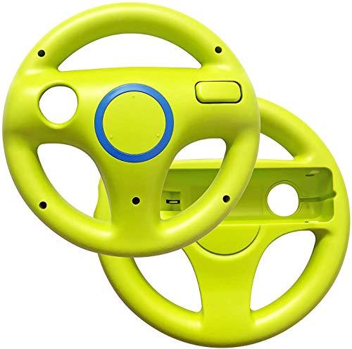 Link-e : Packung Mit 2 Grüne Lenkrädern, Die Mit Dem Wiimote Controller Der Nintendo Wii / Wii-U Konsole Kompatibel Sind