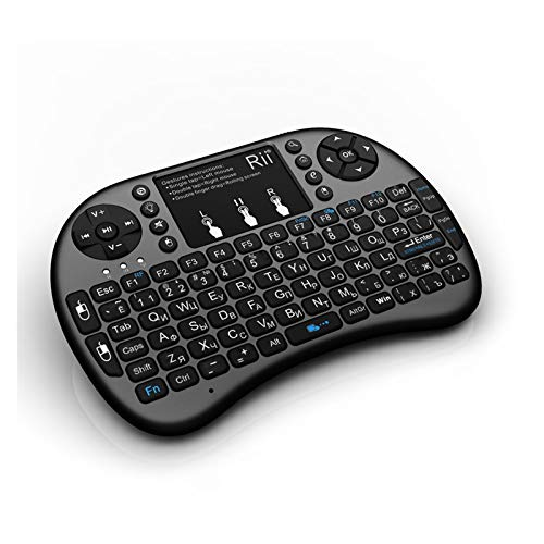 YDL 2.4G Wireless Mini Gaming Keyboard Backlit Hebreo Control Remoto Touchpad Mouse para Smart Android Caja Tablet PC