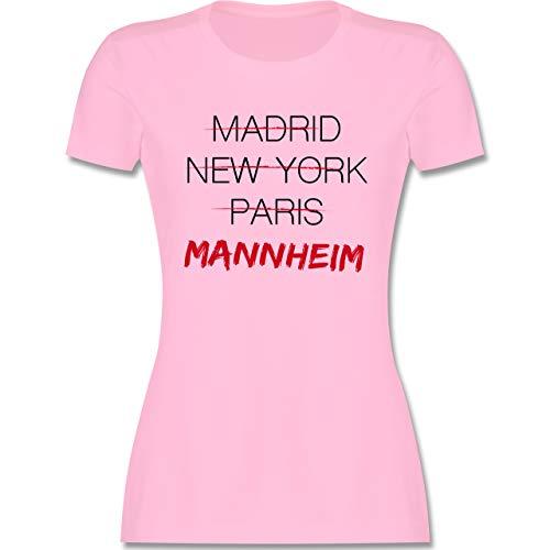 Städte - Weltstadt Mannheim - XL - Rosa - Deutschland - L191 - Tailliertes Tshirt für Damen und Frauen T-Shirt