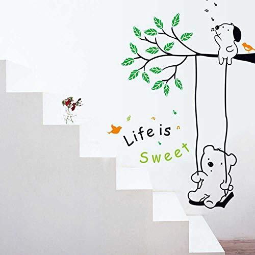 NOBRAND Cuarto De Niños Guardería Pegatinas De Pared Decorativas Extraíbles Al por Mayor De Dibujos Animados Columpio Winnie