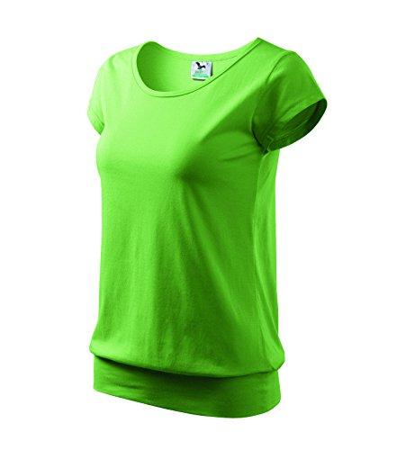 T-Shirt Ladies City Damenshirt 100% Baumwolle - Größe und Farbe wählbar- (L, erbsengrün)