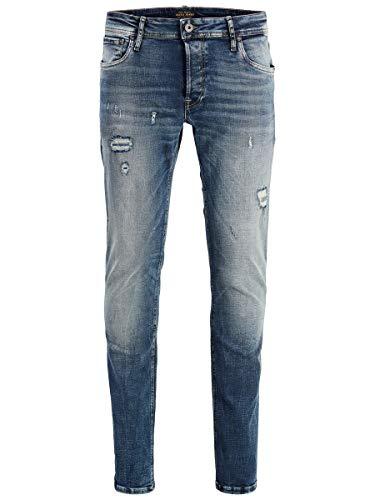 JACK & JONES Herren JJIGLENN JJORIGINAL JOS 788 50SPS NOOS Slim Jeans, Blau (Blue Denim Blue Denim), W32/L34