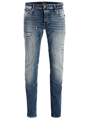 JACK & JONES Herren JJIGLENN JJORIGINAL JOS 788 50SPS NOOS Slim Jeans, Blau (Blue Denim Blue Denim), W34/L34