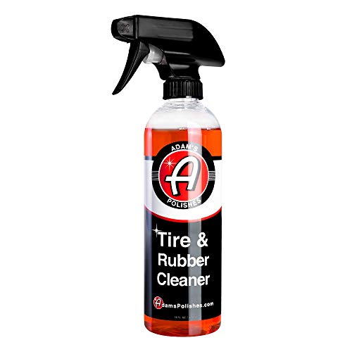 Adam's Tire & Rubber Cleaner - Removes Discoloration From Tires Quickly - Works Great on Tires, Rubber & Plastic Trim,...