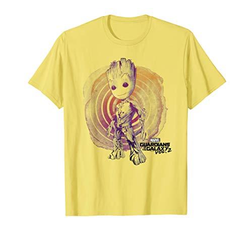 Marvel Guardians Vol. 2 Groot Watercolor Swirl T-Shirt C1