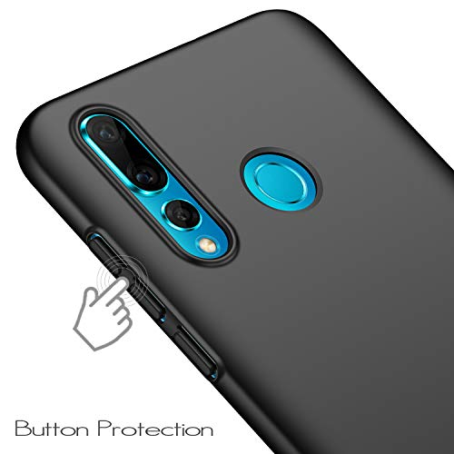 anccer Kompatibel mit Huawei Nova 4 Hülle, [Serie Matte] Elastische Schockabsorption und Ultra Thin Design (Glattes Schwarzes) - 3