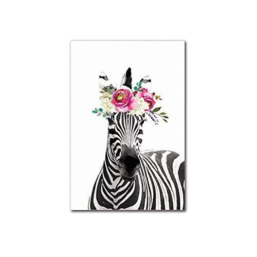 Engfgh Zebra-Ölgemälde Bunte dekorative Wand, Leinwand Kunst Bild Keines Feld Öl Zeichnung Poster, Gemälde Kunst Das Bild Leinwand Tierbilder for Hauptdekor-Dekoration-Geschenk