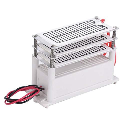 Generador de ozono doméstico, 90 W, limpieza integrada de placas cerámicas, limpiador de olores, 18 g, para casa, cocina, oficina, fábrica química