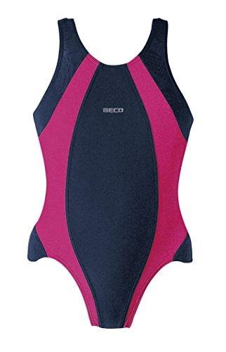 Beco Kinder Badeanzug-Basics Schwimmkleidung, Marine/Pink, 176