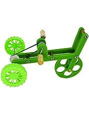 Balacoo Pappagallo Giocattolo per L'addestramento Mini Bicicletta Bici Giocattolo da Gioco per Uccelli Uccello Divertente Materiale per Addestramento per Parrocchetti Ara Conures (Verde)