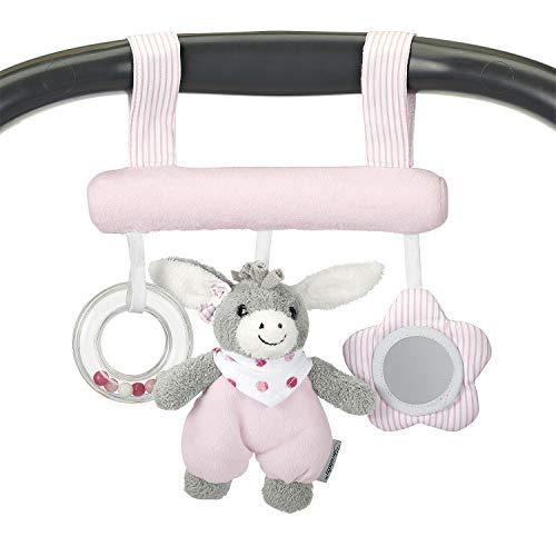 Sterntaler 6601838 Spielzeug zum Aufhängen mit Klettverschluss, Esel Emmi Girl, Inklusive Rassel, Alter: Für Babys ab der Geburt, Rosa