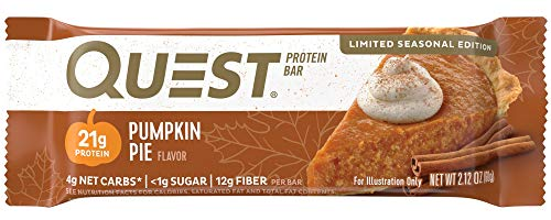 Quest Nutrition Pumpkin Pie Protein Bar, High Protein, Low Carb, Gluten Free, 12 Count
