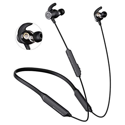 SOUNDPEATS(サウンドピーツ) ForcePro Bluetooth ワイヤレスイヤホン デュアルドドライバー QualcommR aptX?-HD/QualcommR cVc?8.0ノイズキャンセリング/QCC3034チップ/IPX6 防水スポー