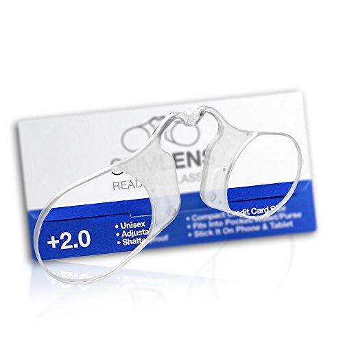 SlimLens Compact Leesbril, sterk, dun, licht & Credit Card Mate. Aangepast draagcomfort. Gegarandeerd voor het leven (Unisex, 2.0)