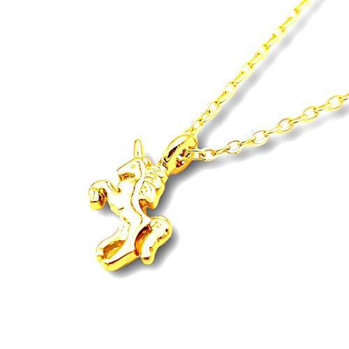 【HALL】「 ユニコーン」HALLネックレス【Hawaiian jewelry】ハワイアンジュエリー ユニコーン 純粋 シンプル 可愛い レディース メンズ (ゴールド)