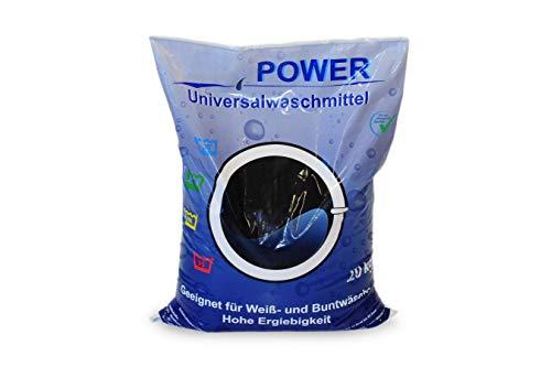 Power Universal Waschmittel 20 kg │Waschpulver für Weiß- und Buntwäsche │ Vollwaschmittel in der Großpackung │ geeignet für Color-Wäsche│ hohe Ergiebigkeit, Pulver reicht für ca. 308 Wäschen