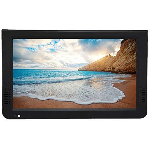 ASHATA DVB-T-T2 Televisión Portátil Exterior con 12V Cargador de Coche y Mando a Distancia, Mini Digital Televisores Soporta Tarjeta SD/USB/TF/Audio para Coche/al Aire Libre(10 Inch)