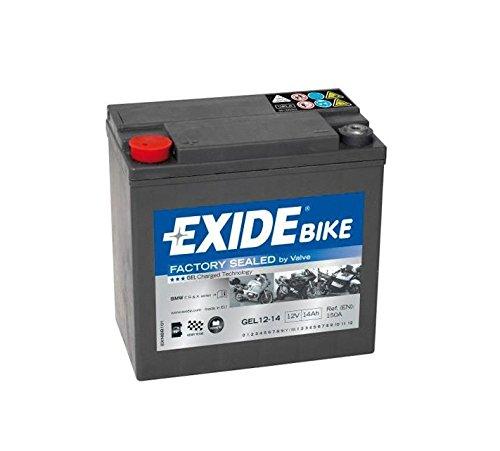 Exide Bike Gel-Autobatterie 12-14 – 12 V – 14 Ah – 150 A EN – 150 mm x 87 mm x 145 mm – M06 Pol Buchse