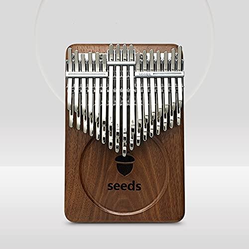 Alsophila カリンバ 34キー kalimba二重C調半音階親指ピアノ楽器 バージョンアップは黒クルミから作されています 大人/初心者に適用誕生日プレゼント