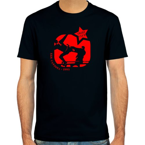 SpielRaum T-Shirt Eric Cantona | Fightclub ::: Farbauswahl: schwarz, Oliv, oder Navy ::: Größen: S-XXL ::: Fußball-Kult