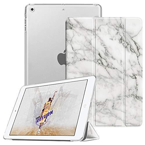 Fintie Hülle für iPad Mini 1 / iPad Mini 2 / iPad Mini 3 - Superdünne Superleicht Schutzhülle mit durchsichtiger Rückseite Abdeckung Cover mit Auto Schlaf/Wach Funktion, Marmor Weiß