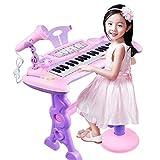 QuRRong Teclado de Piano para Niños Juguete de Teclado de Piano bebé para niños Piano de Juguete Multifuncional con micrófono para niños pequeños Niñas 1 2 3 4 años Regalos para Regalo de Cumpleaños