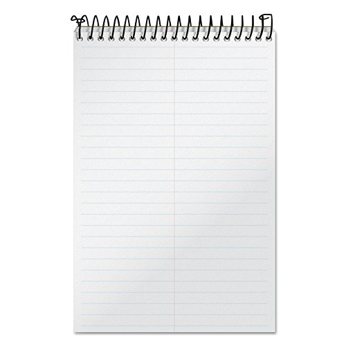 """TOPS Docket Gold Steno Book, 6"""" x 9"""", Gregg Rule, Clear Poly Cover, 100 Sheets (99708)"""