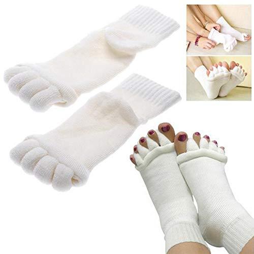 Amiispe JTLB Zehenspreizer Socken Die sanfte Entspannung bei Hallux Valgus und Zehenfehlstellungen Wellness Socken Zehentrenner Pediküre Fuß Massage Socken