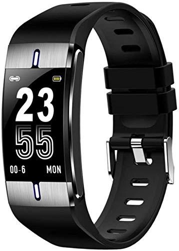 SHIJIAN Pulsera inteligente multifunción reloj de pulsera de grasa corporal medición de presión arterial y monitor de frecuencia cardíaca PPG reloj actividad fitness tracker pulsera-negro
