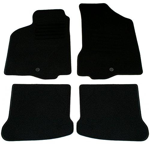 Juego de Alfombrillas de Terciopelo, Color Negro, para Seat Ibiza Tipo 6K Mod. Bj. 9/99 – 3/02