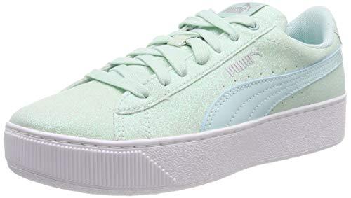Puma Puma Vikky Platform Glitz Jr, Mädchen Sneakers, Blau (Fair Aqua-Fair Aqua), 39 EU
