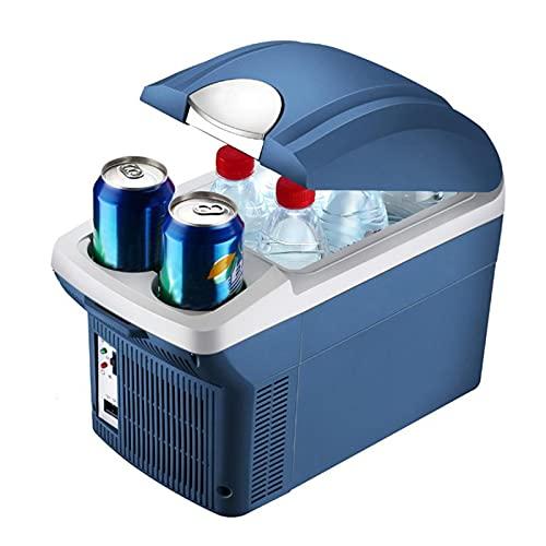 Refrigerador congelador para automóvil portátil, refrigerador y calentador compacto de 12 V para alimentos, mini refrigerador para automóvil de 8 L