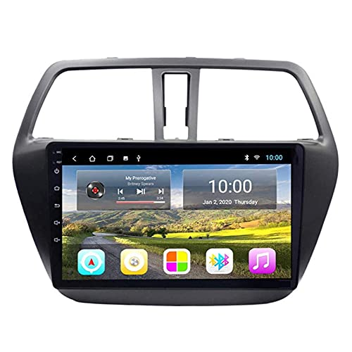 Lettore autoradio di navigazione GPS Android 8.1 per Suzuki S-Cross 2014-2017, FM/RDS/Wifi/Bluetooth/Comandi al volante/Collegamento specchio/Telecamera per retrovisione