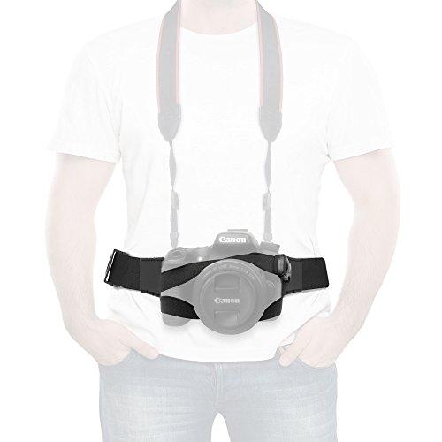 Anwenk Camera Strap Belt Chest Harness Strap Adjustable Quick Release Camera Fasten Belt Strap w/Buckle Quick Save Waist Strap for DSRL Canon Nikon Sony Pentax Panasonic Lens Case-Black