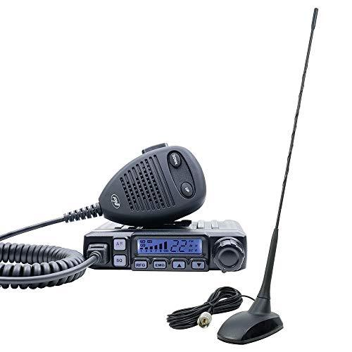 Radio CB Escort PNI HP 7120 ASQ, guadagno RF, 4W, 12V e CB Antenna PNI Extra 48 con magnete incluso, 45cm, SWR 1.0, AM FM funziona solo nella banda UE